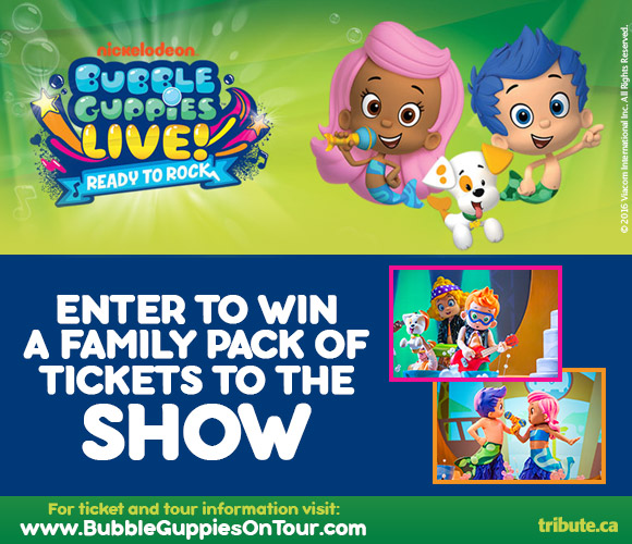 Bubble Guppies Live! Ready to Rock Family Passes contest
