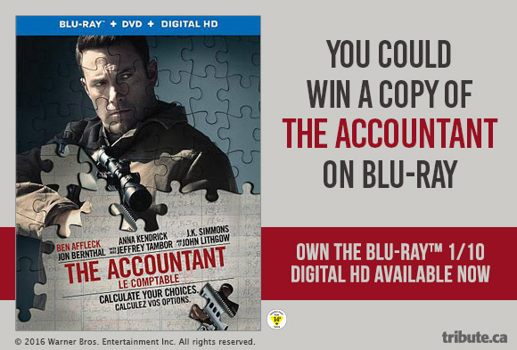 The Accountant Blu-ray Combo Pack contest