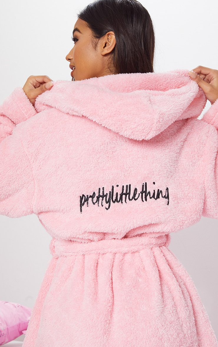 Pink Fluffy Dressing Gown from Pretty Little Thing