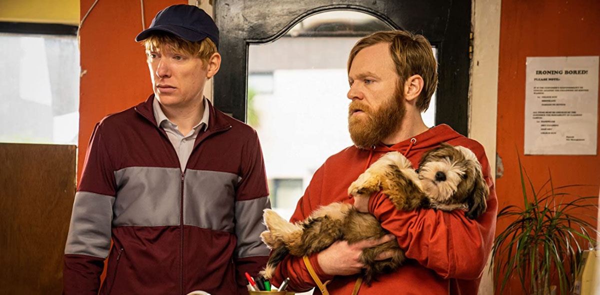 Domhnall Gleeson and Brian Gleeson in Frank of Ireland